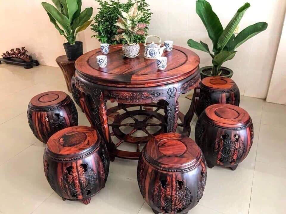 Cần bán bộ bàn ghế gỗ trắc