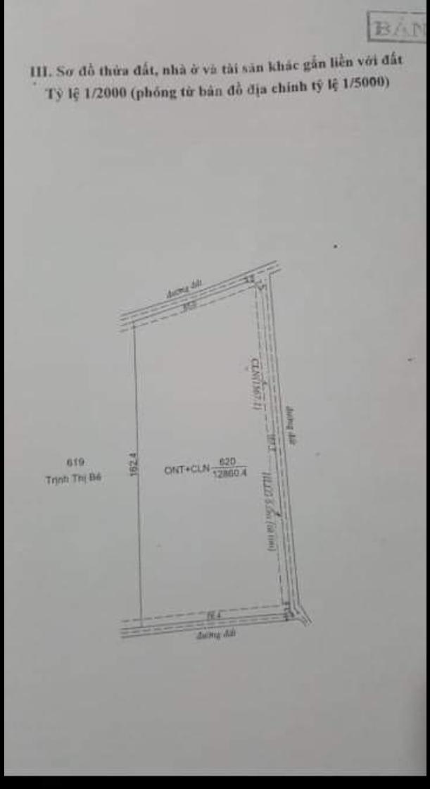 Bán đất xã Minh Hưng giá 13tỷ dt 1,2ha có 200mtc