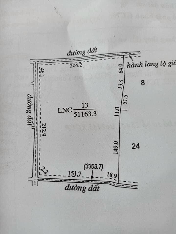 Bán đất xã Minh Hưng giá 250tỷ dt 7ha