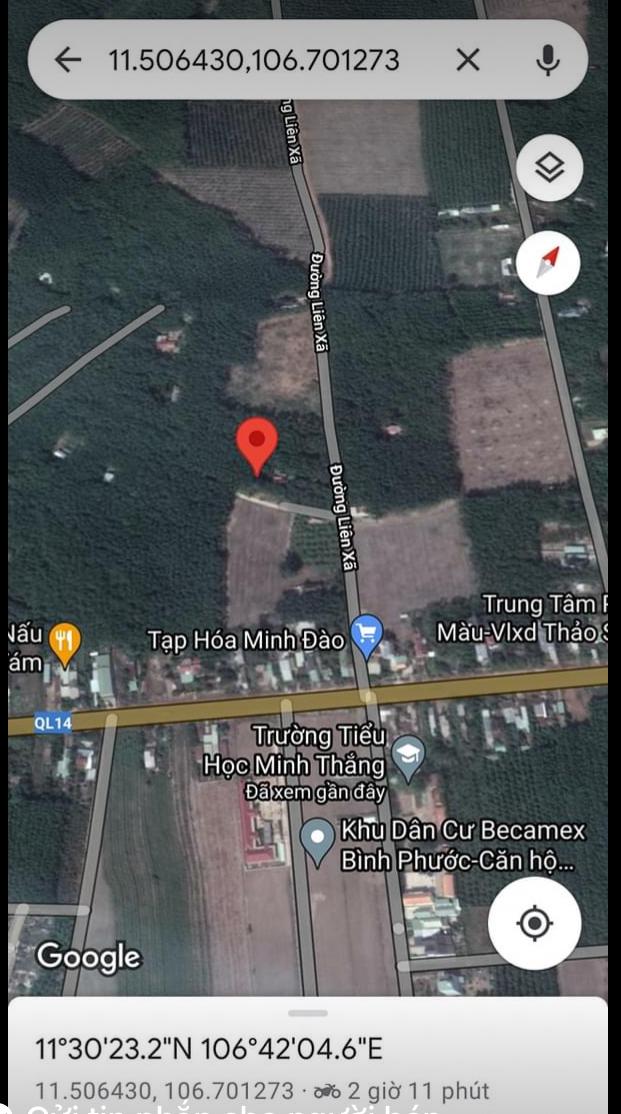 Bán đất xã Minh Thắng giá 590tr dt 5*30