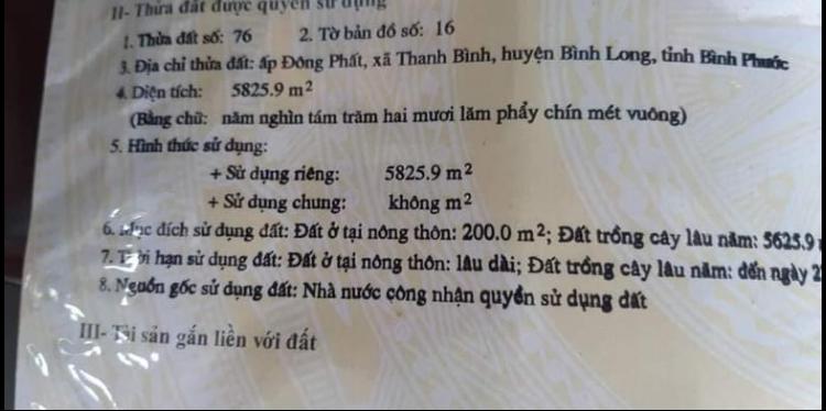 Bán đất xã Thanh Bình giá 750tr/1xào dt 5,8xào