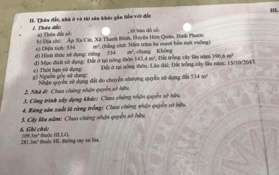 Bán đất xã Thanh Bình giá 3ty6 dt 12×38