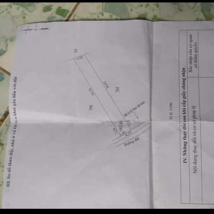 Bán đất thị trấn Tân Khai giá 1 tỷ dt 6x38x100tc