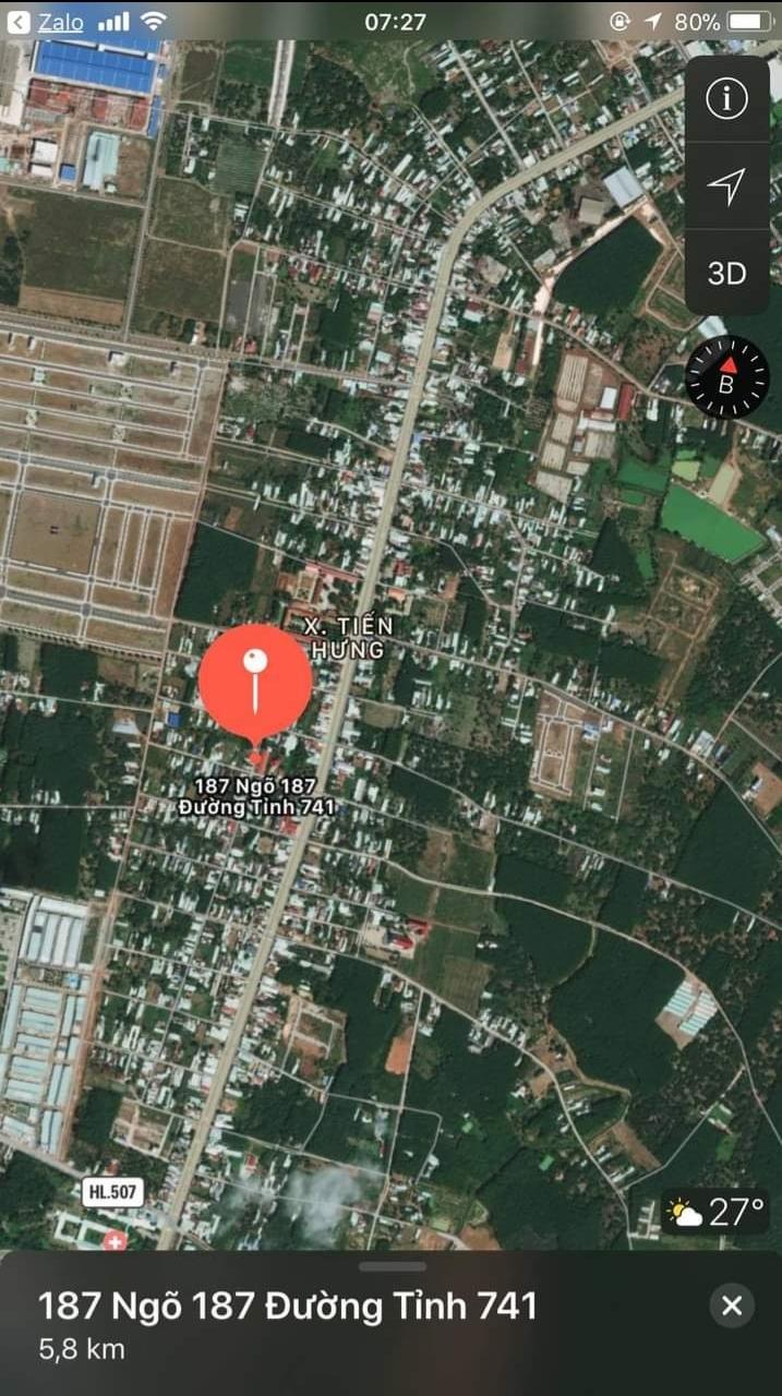 Bán đất xã Tiến Hưng giá 2 tỷ 50tr dt 10×24×100tc