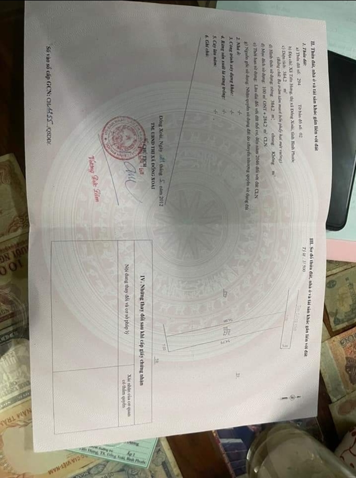 Bán đất xã Tiến Hưng giá 1 tỷ 700tr dt 7×56×100tc