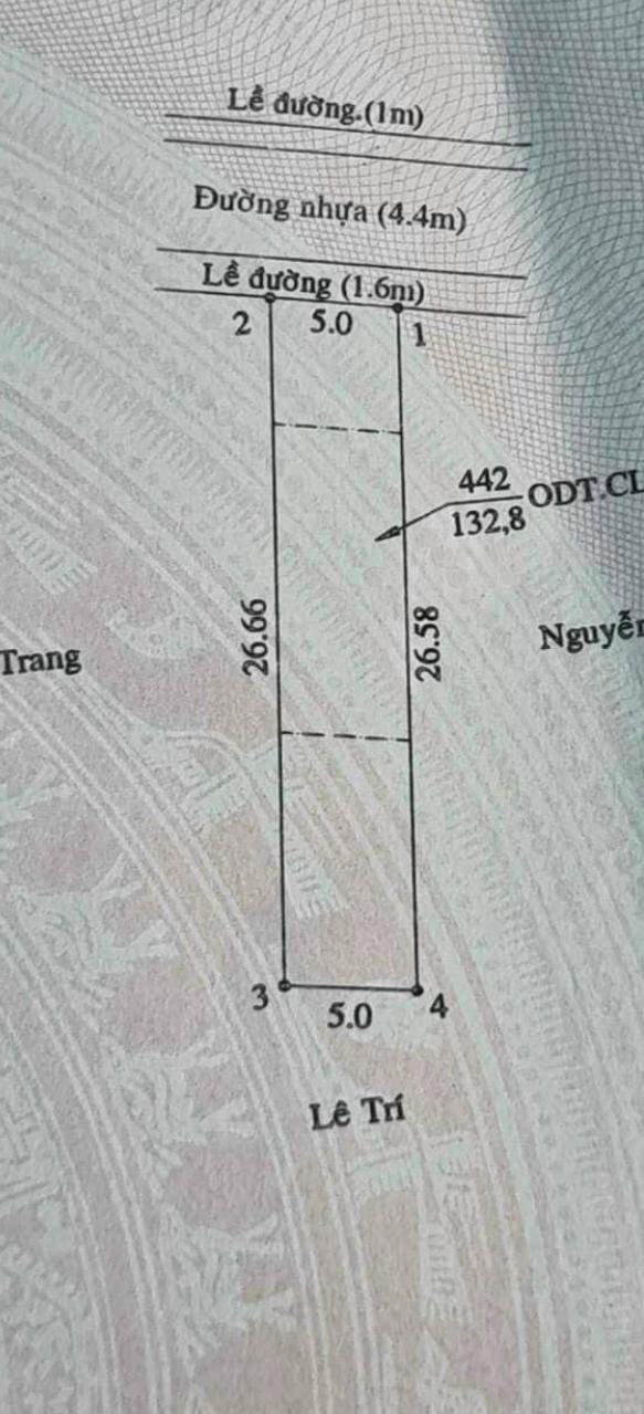 Bán đất phường Hiệp An giá 2,3tỷ dt 5*27